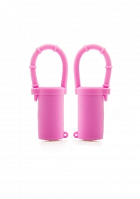 Vibrating Nipple Belts - Pink