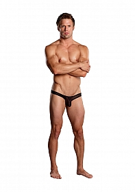 Full Cut Thong Back - Black
