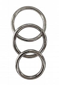 Metal Cock Ring 3-pack