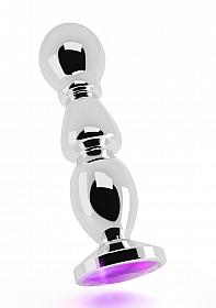 R2 - Silver Plug - 4,8 Inch - Purple Sapphire