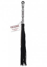 Beaded Metal Flogger - Black