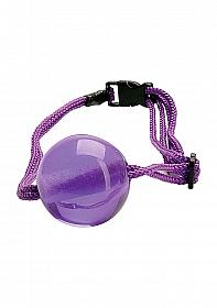 Japanese Silk Love Rope Ball Gag - Purple