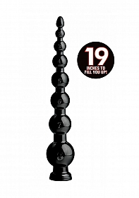 "19"" Graduated Beaded Hose - Black"