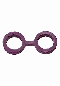 Japanese Bondage - Silicone Cuffs - Small - Purple