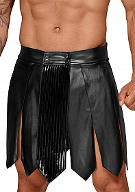 Leather gladiator skirt - Black